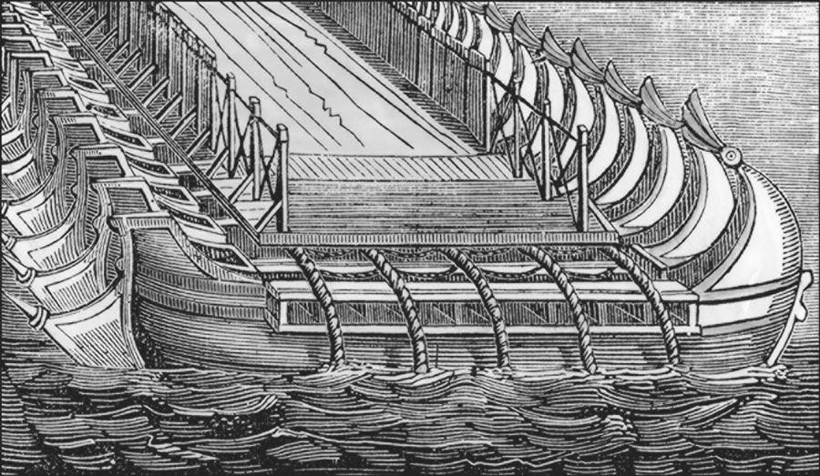 Понтон: мост изкораблей через море