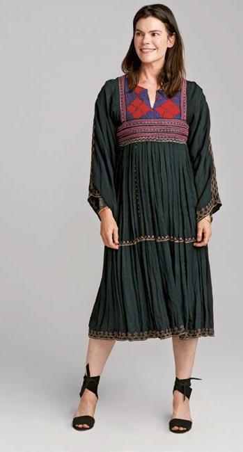Вечернее платье встиле хиппи