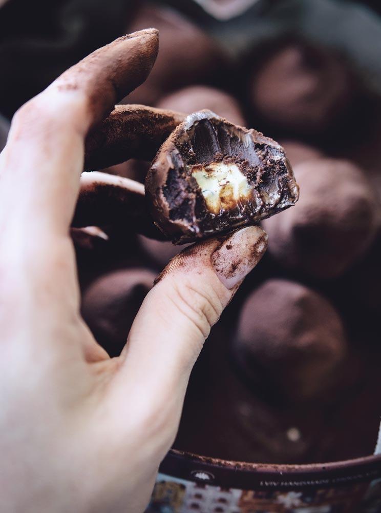 Шоколадные трюфели, рецепт