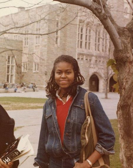 Начало 1980-х. Мишель Робинсон студентка Принстона