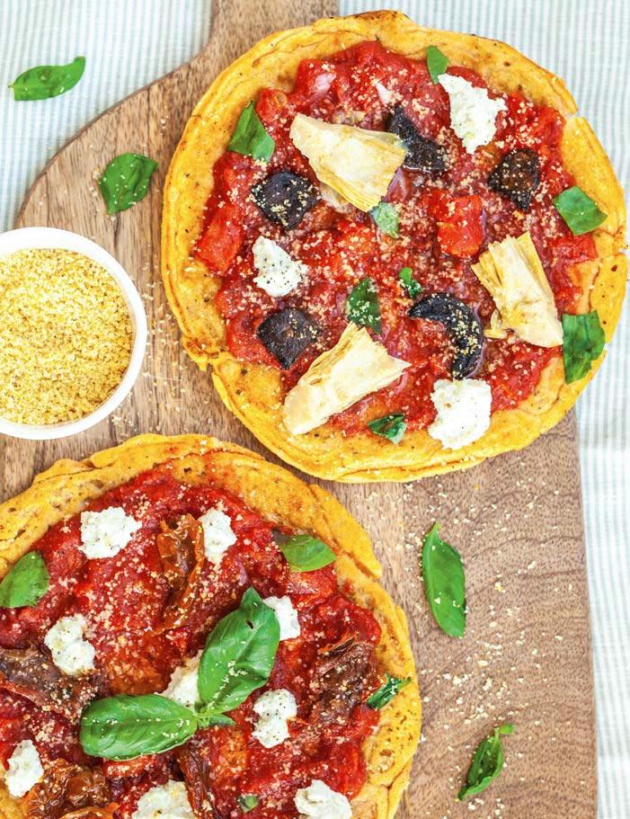 Пицца накорже изчечевицы