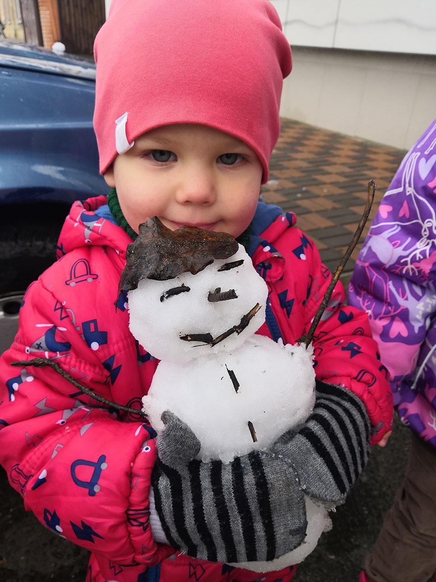 как сделать снеговика