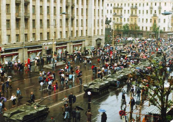 танки на Тверской