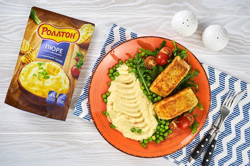 Рыбные стейки в картофельной панировке