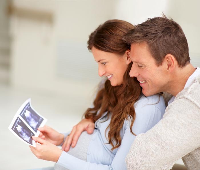 В 34 года первая беременность