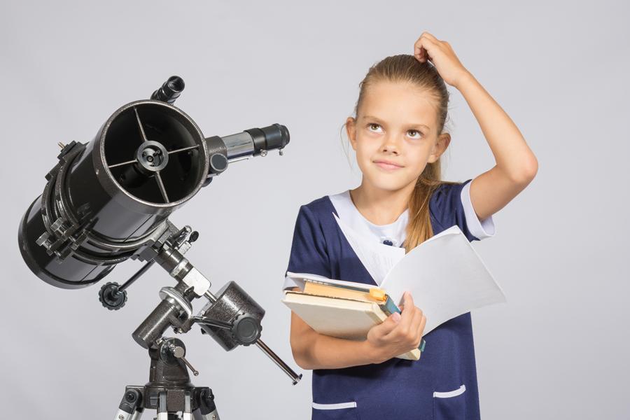 Астрономия с ребенком, изучение звездного неба в телескоп