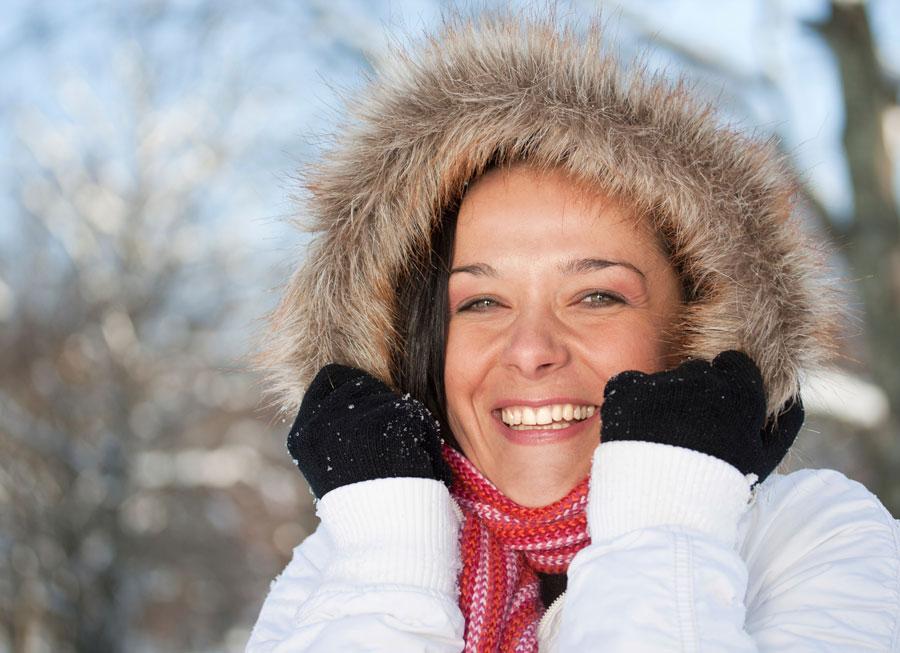 Уход за сухой и чувствительной кожей зимой