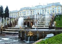 Каскад фонтанов в Петергофе