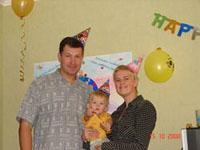 Первый день рождения Егорки
