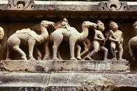 Фрагмент барельефа, украшающего храм в Каджурахо. Фото Е.Ледовских