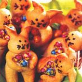 Кролики из сладкого теста