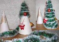 Поделки на новый год елочка из мишуры