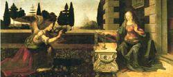 Леонардо да Винчи 'Благовещение'