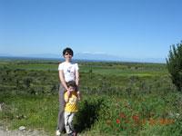 Вид на гору Олимп с полуострова Кассандра, т.е. очень издалека