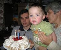 День рождения Саши - 2 года