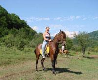 Конные прогулки в Абхазии