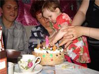 Катюше 1 годик (первый день рождения!)