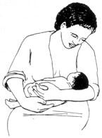 Как держать ребенка при кормлении грудью