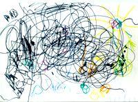 Доизобразительная стадия, вторая ступень — мозг и рука ребенка не готовы к копированию предлагаемых взрослым образцов, 2 года