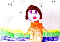 Появляется интерес к другим. 'Портрет тети Эллы', 5 лет 3 мес.