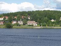 Хямеэнлинна. Вид на противоположный берег озера