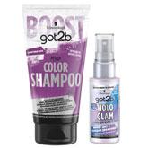 Цветные спреи для волос и оттеночные шампуни от got2b