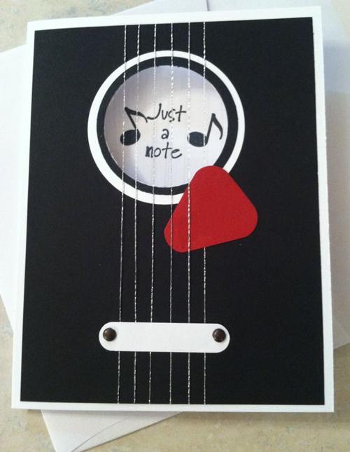 Как сделать открытку для музыканта, открытка