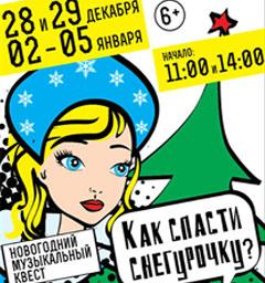 Розыгрыш билетов на музыкальное представление «Как спасти Снегурочку?»